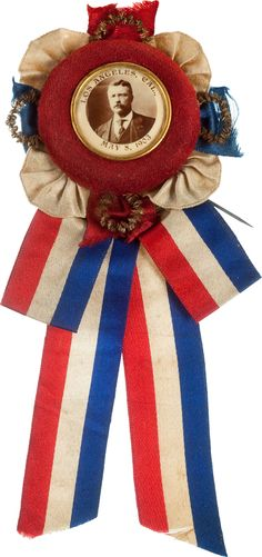 Theodore Roosevelt: One-Day Event Badge. on May This souvenir badge was issued for - Available at 2012 May 12 Americana Signature. Edith Roosevelt, Theodore Roosevelt, Fourth Of July, 4th Of July Wreath, Bunting Garland, Buntings, Garlands, Patriotic Symbols, Primitive Antiques