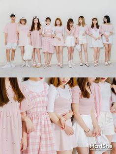 Similar Look by Color The Similar Look: Popular fashiont trend in KoreaTwinning with your girlfriends without actually looking like twins Pastel Pink Pastel Blue Blue/Denim Navy Red Cute Fashion, Look Fashion, Girl Fashion, Fashion Outfits, Womens Fashion, Fashion 2018, Korean Fashion Trends, Korea Fashion, Asian Fashion