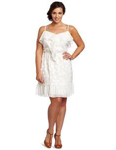 Jessica Simpson Womens Plus Size Ruffle Tank Dress