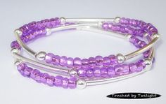 Seed and Noodle Bead Stretch Bracelets Set by Touched byTwilight
