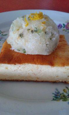 Tejfölfelfújt, citrus granitával Hungarian Recipes, Hungarian Food, Sorbet, Lime, Lima, Hungarian Cuisine, Key Lime