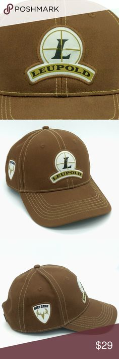 df80419218e Leupold Logo Deer Camp Ball Cap Hat Adult Brown