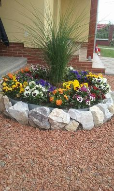 50 Stunning Spring Garden Ideas for Front Yard and Backyard Landscaping - Déco jardin - Rock Garden Design, Garden Landscape Design, House Landscape, Landscape Edging, Landscape Art, Landscape Photography, Landscape Paintings, Landscape Designs, Landscape Rocks
