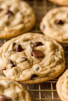 Everyone's favorite Chocolate Chip Cookies - soft, moist and loaded with chocolate. An easy, excellent chocolate chip cookie recipe - no chilling required! Chocolate Chip Cookies Ingredients, Make Chocolate Chip Cookies, Chocolate Chips, Fun Desserts, Dessert Recipes, Yummy Recipes, French Desserts, Bar Recipes, Baking Recipes
