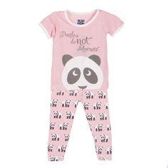 KicKee Pants Short Sleeve Girls Pajama Set, Lotus Panda