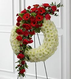 The FTD® Graceful Tribute™ Wreath- Shown