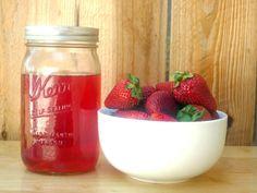 DIY Strawberry Liqueur, INGREDIENTS 8 ounces strawberries, roughly sliced 1 1/2 cups vodka 1 three-inch sprig fresh tarragon 1 cup water 1 cup sugar