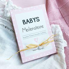 Mit diesem Kartenset Meilensteinkarten Baby kannst du die Höhepunkte im ersten Lebensjahr ganz besonders festhalten und kreative Babybilder machen.
