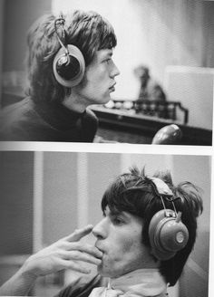 Mick and Keith, Olympic Studios, 1967.