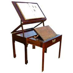 Georgian Period Metamorphic Architect's Table c.1760 | 1st Dibs | what an amazingly beautiful/unique piece.