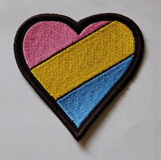 Pansexual Pride Rainbow Flag Heart by PufferfishCreations on Etsy