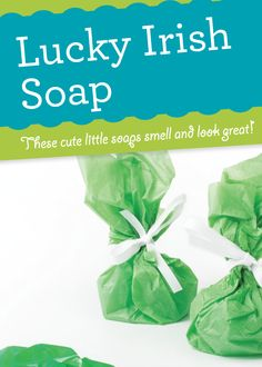 Lucky Irish Soap for the leprechauns in your life!