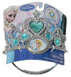 Disney Frozen Elsa Tiara Light-up Gem Girls 3 Yrs 2014 for sale online Little Girl Toys, Baby Girl Toys, Toys For Girls, Frozen Crown, Frozen Queen, Elsa Fancy Dress, Frozen Jewelry, Princess Toys, Disney Princess Hair