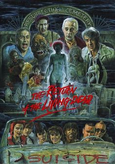 The Return Of The Living Dead Horror Movie -Watch Free Latest Movies Online on Horror Icons, Horror Movie Posters, Movie Poster Art, Retro Horror, Vintage Horror, Terror Movies, Scary Movies, Horror Artwork, Art Vintage