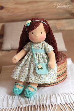 Вальдорфская игрушка ручной работы. Ярмарка Мастеров - ручная работа Вальдорфская кукла Незабудка. Handmade.