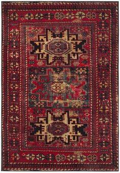 Safavieh Vintage Hamadan VTH213A Red / Multi Rug