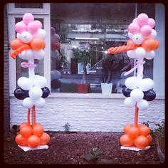 Geboorte ooievaar - Ballondecoratie