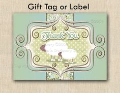 Little Lamb - Baby Lamb gift tags and labels