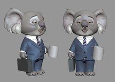 Disney's Zootopia. 2D design Cory Loftis  ArtStation - Koala, Brandon Lawless