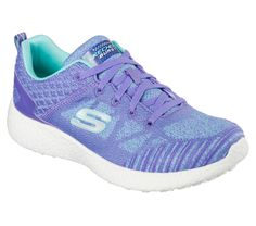 The perfect combination of style and easy wearing comfort comes in the SKECHERS Burst shoe. Skech Knit Mesh fabric upper in a lace up athletic fashion comfort sneaker with Air-Cooled Memory Foam insole and responsive cushioning sole. Workout Shoes, Workout Wear, Cute Shoes, Me Too Shoes, Sneakers Fashion, Fashion Shoes, Baskets, Sketchers Shoes, Fabric Shoes