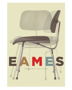 Retro poster Mid Century Modern Charles Eames by visualphilosophy