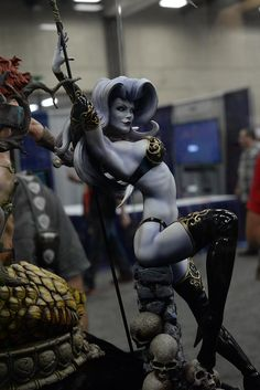2015 San Diego Comic-Con (SDCC) Photo Coverage for Sideshow Collectibles 3d Figures, Anime Figures, Action Figures, Fantasy Women, Fantasy Girl, Dark Fantasy, Goodies Manga, L Death, Sideshow Collectibles