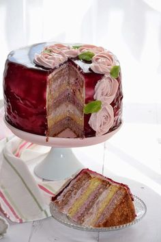 Food Cakes, Cakes And More, Vanilla Cake, Cake Recipes, Birthday Cake, Sweets, Candy, Cookies, Baking