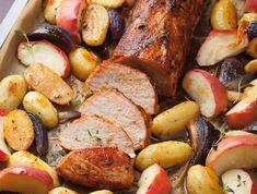 Sertésszűz sült almával Recept képpel - Mindmegette.hu - Receptek Cordon Bleu, Sausage, Food And Drink, Pork, Menu, Favorite Recipes, Lunch, Dishes, Cooking