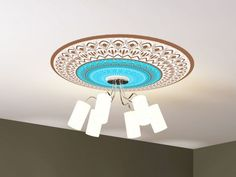 Wall Stickers – Ceiling sticker blue rosette – a unique product by stickdecor on DaWanda