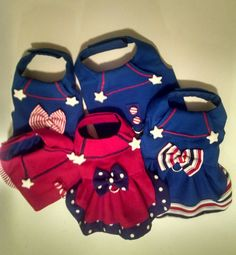 5 harnesses nautical sailor dress red white and blue dog harnesses. Less than $120 for 5. Send me a message #dogharness #dogs #dogsoftwitter