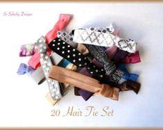 Party favors hair ties jewelry and accessories by SoSplashyDesigns Elastic Hair Ties, Tie Set, Party Favors, Etsy Seller, Creative, Accessories, Jewelry, Hair Tie, Jewlery