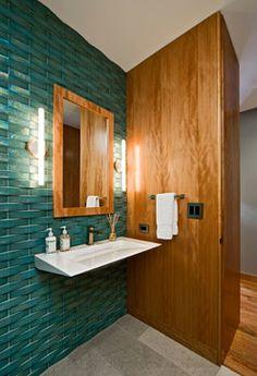 Ann Sacks Profile by Oceanside Glasstile. Organic Modern - modern - Bathroom - Minneapolis - Streeter & Associates, Inc.