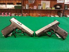 "Left: Smith & Wesson SD40VE, 40 S&W, 10 Round Magazine, 4"" Barrel. Right: Smith & Wesson SD9VE, 9MM, 10 Round Magazine, 4"" Barrel. $400 each."