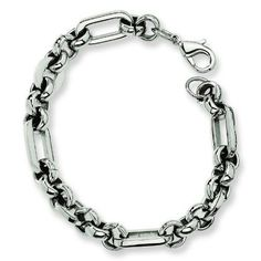 Stainless Steel Fancy Link Bracelet. Metal Weight- 17.67g. 7.5in long Bracelet. Jewelrypot. $26.99. Fabulous Promotions and Discounts!. Your item will be shipped the same or next weekday!. 30 Day Money Back Guarantee. 100% Satisfaction Guarantee. Questions? Call 866-923-4446. All Genuine Diamonds, Gemstones, Materials, and Precious Metals. Save 63%!