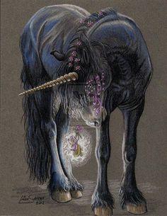 .oooh a black unicorn!