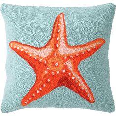 Seaside Starfish Pillow from @PoshTots #starfish #pillow #beach #home #decor #design #colorful