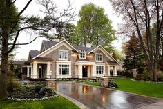 Love the outside of this house, the inside is too big for my tastes but love the stone and trim