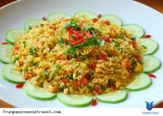 Du lịch Trung Quốc - Cơm chiên Dương Châu là một loại cơm chiên nổi tiếng thế giới, là một món ăn ngon và nổi tiếng đến nổi hầu như tất cả các nhà hàng Trung Quốc nào cũng có cả. Món ăn này được xuất phát từ triều đại nhà Thanh của Trung Quốc vào năm 1754. Cơm chiên này được đặt tên là Dương... Xem thêm: http://trungquocsensetravel.com/com-chien-duong-chau-n.html