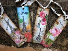 Bookmarks - Beautiful: Do these in quilling, photograph them, put them in your IPhoto album and when you're ready, run them through a colored printer onto cardstock, , laminate them, attach a tassle, and sell them!!!