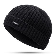 6011f10865f Men Women Couple Knitted Wool Blend Beanie Skullcap Retro Warm Crimping  Brimless Hats is hot sale on Newchic Mobile.