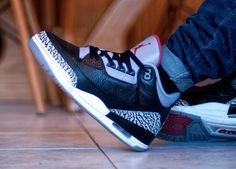 http://SneakersCartel.com Nike Air Jordan III 'Black Cement'(by @jonomfg) #sneakers #shoes #kicks #jordan #lebron #nba #nike #adidas #reebok #airjordan #sneakerhead #fashion #sneakerscartel https://www.sneakerscartel.com/nike-air-jordan-iii-black-cement-by-jonomfg/