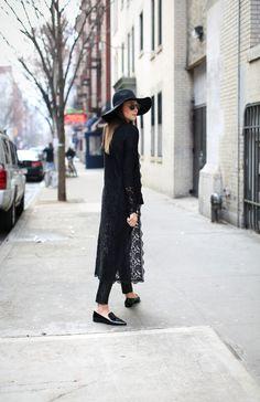 leather & lace. #DanielleBernstein in NYC. #weworewhat