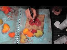"""Mixed Media Friday- """"Love"""" Art Journal Tutorial  I really like her vidz she explains everything clearly and great ideas."""