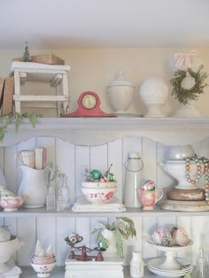 Chateau Chic: Styling Shelves for Christmas