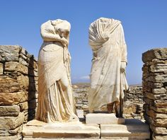 """House of Cleopatra"" on the island of Delos. Santorini Tours, Mykonos, Greece Tours, Greece Travel, Egyptian Queen, Ancient Greece, Day Tours, Ancient Art, World Heritage Sites"