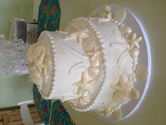 My beach wedding cake!