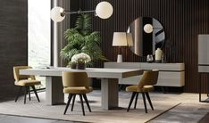 Seating For Small Living Room Code: 5950130963 Yellow Dining Chairs, Grey Dining Tables, Dining Room Table Decor, Rectangle Dining Table, Dining Table Design, Black Chairs, Dark Blue Living Room, Small Living Room Chairs, Simple Dining Table