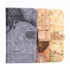 Map Pattern PU Leather Filp-open Case For Samsung Galaxy S6 G9200