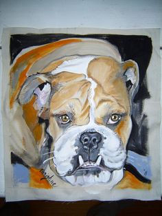 Pet Portrait Pillow Hand Painted Personalized by PAINTEDPILLOWS