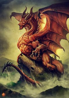 Welsh Dragon – fantasy concept by Carlos Herrera